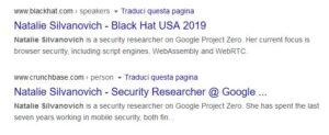 natalie silvanovich su google