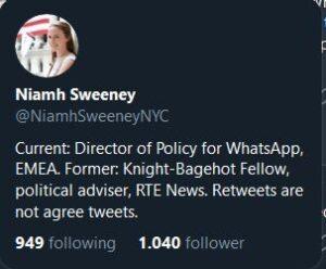 niamh sweenet tweet privacy